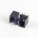 4 PIN RJ11 Female Connector, PCB MOUNT, R/A
