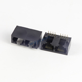 Low Profile RJ45 1X2 Modular Jack Right Angle Unshielded