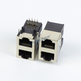Half-Shielded 2X1 RJ45 Connector, Female, 8PIN