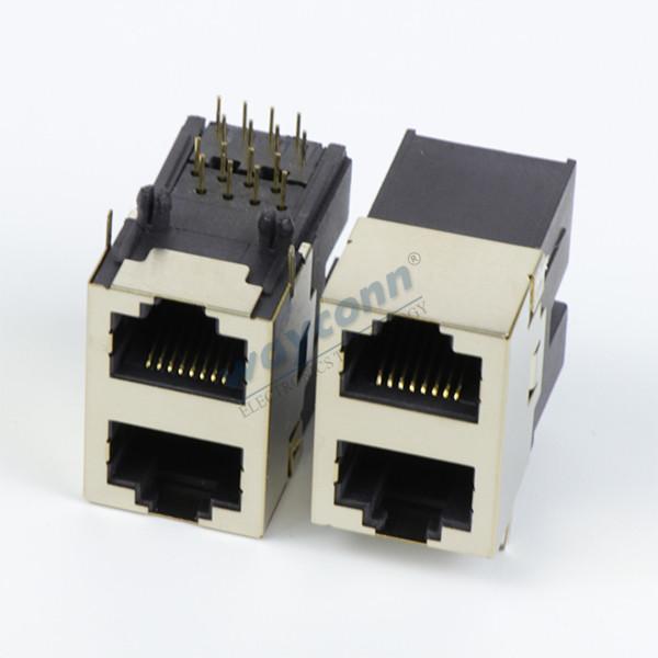 Half-Shielded 2X1 RJ45 Connector, Female, 8PIN