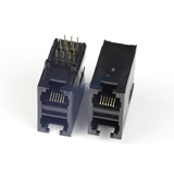Stacked RJ11 2X1 PCB Socket Connector, 6PIN, Unshielded