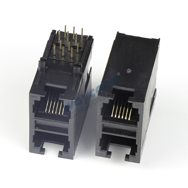 Stacked 2X1 RJ11 Connector, 6PIN, Unshielded