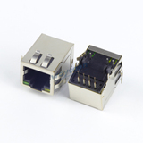 RJ45 Without Magnetics, Side Entry, Shielded w/ EMI & LED PCB Layout