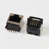 Side Entry Shielded RJ45 Female PCB Connector