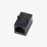 Side Entry 6P4C RJ11 PCB Socket w/ Panel Stop