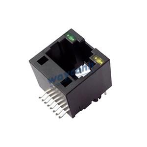 Unshielded Vertical RJ45 SMD LED