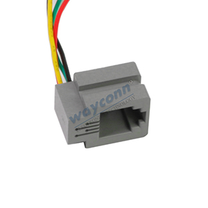 616M 4P4C Modular Jack with Wire Leads