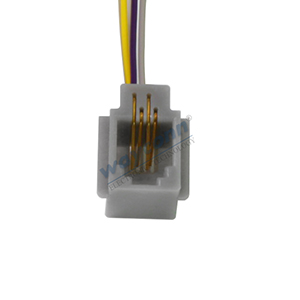 616MS Wired Modular Jack, 4P4C, 4 Wire Leads