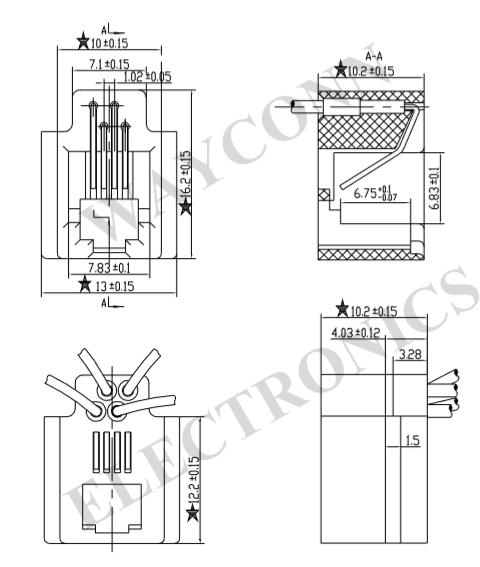 616MS 4P4C Drawing