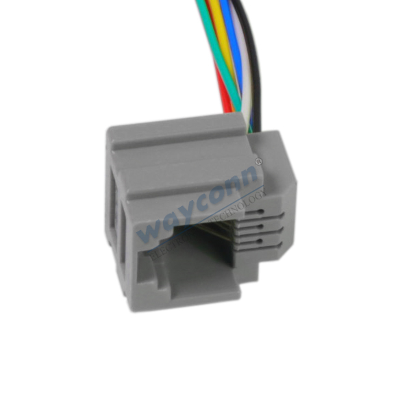 10PCS Black RJ45 8P8C Jack Modules PCB Mount Network Internet Connectors Top MF