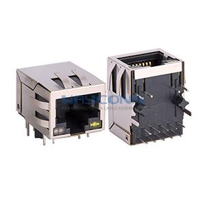 1000Base-T Magnetic RJ45 Modular Jack, Bi-Color LED, 10P10C