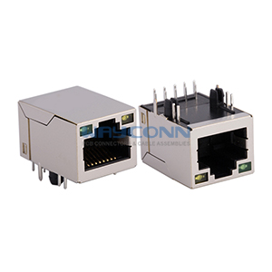 1 Port RJ45 Magjack Connector, 1000Base-T, LED(G/Y), 10-PIN