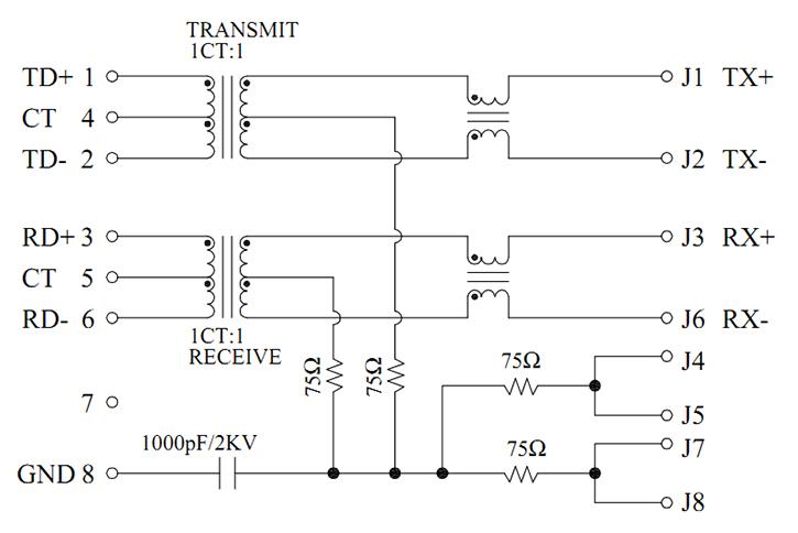 MJT59-B4001110XX Magnetics Schematics