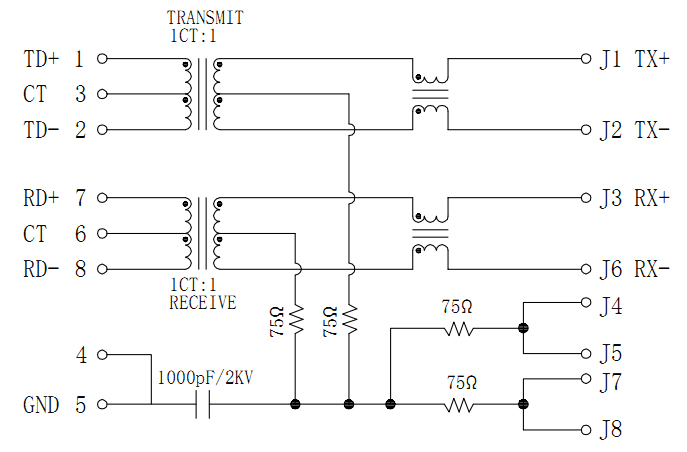 MJT13-M40751121XX Magnetic Schematics