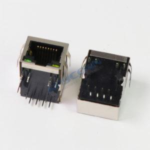 RJ45 Connector with Transformer, Shielded w/ LED & EMI