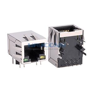 Tab Down Ethernet 10/100 Base-T RJ45 Magnetics Connector