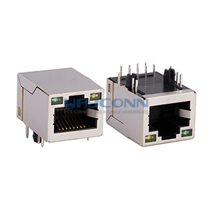 Tab Up 10/100 Base-T RJ45 with magnetics Transformer