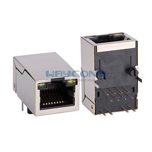 Tab Up Single Port Integrated RJ45 Transformer w/LED(G/Y)