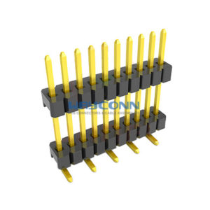 Dual Row Straight SMT 1.27mm Elevated Pin Header