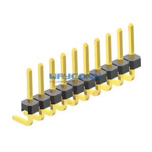 Single Row Right Angle Thru-Hole 1.27mm Pin Header
