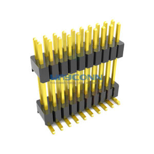 2 Row Straight 1.27mm Elevated Male Header