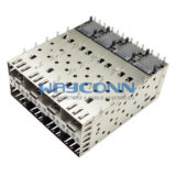 SFP Cage & Connector 2x4 Port, Press-Fit Type - SC0-N24PLX