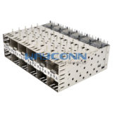 SFP Cage & Connector 2x6 Port, Press-Fit Type - SC0-N26PLX