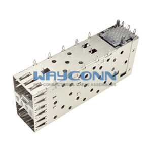 SFP Cage & Connector 2x1 Port, Press-Fit Type - SC0-N21PLX