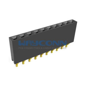Single Row Right Angle Surface Mount 2.54mm Pitch Female Header