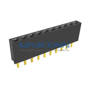 Single Row Straight 2.54mm Pitch Female Header Socket, Height: 7.1mm