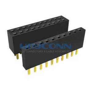 "Single Dual Row Straight Thru-Hole 2.54mm Header Socket, ""U"" Terminal"