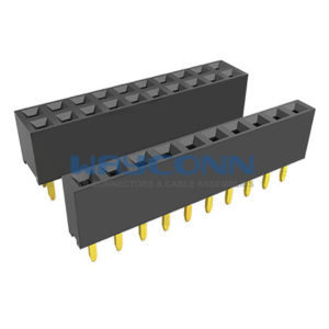 Single & Dual Row Straight Thru-Hole 2.54mm Female Header Socket, H: 5.7mm