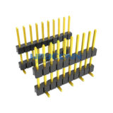 Single Row SMT 2.54mm Pitch Elevated Pin Header, Vertical