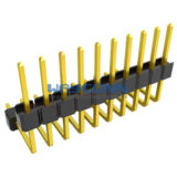 Right Angle Dual Insulator 2.54mm Pitch Pin Header, Single Row