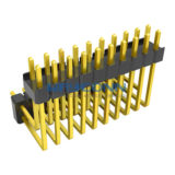 2 Row Dual Insulator 2.54mm Pitch Pin Header, Right Angle