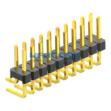 Dual Row Right Angle 2.54mm Pitch Pin Header Thru-Hole, H=1.5/2.0/3.0