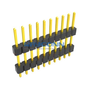 Single Row Straight Elevated 2.54mm Pitch Header, Thru-Hole
