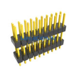 Dual Row Straight 2.54mm Pitch Pin Header, Elevated, Thru-Hole