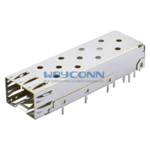 Single Port 1 by 1 SFP Cage Solder Lead Termination