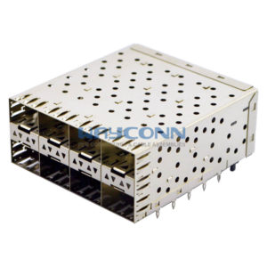 2X4 SFP Receptacle with Cage, Light Pipe Assembly