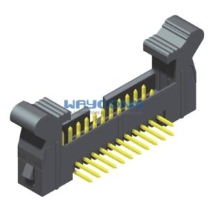 Right Angle 2mm Pitch Latch/Ejector Header, Thru-Hole