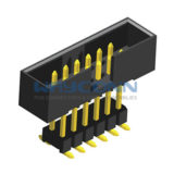 Vertical Mount SMT Type Elevated 2mm Pitch Box Header