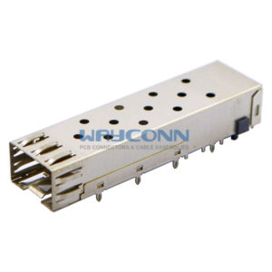 SFP 1x1 Cage Assembly, Press Fit, with EMI Clip