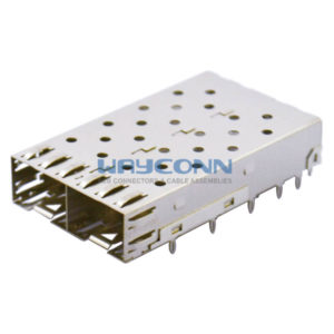 SFP Cage 1X2, Press Fit Termination