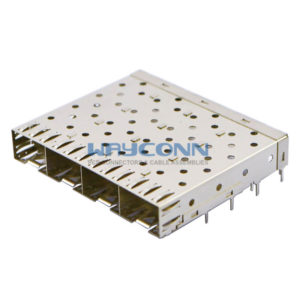 SFP 1X4 Cage Assembly Solder Tail