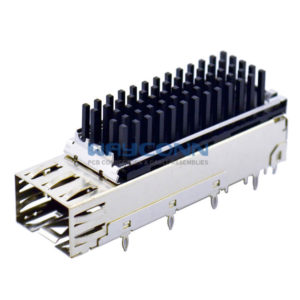 1 by 1 SFP Cage with Heat Sink