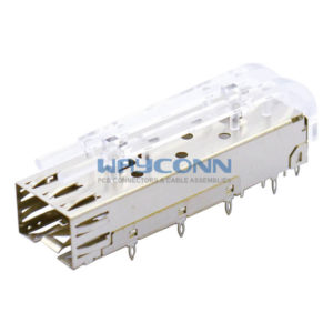Single Port 1x1 SFP Cage Light Pipe Assembly