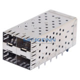 SFP Cage 2X2 with Light Pipe Assembly Press Fit