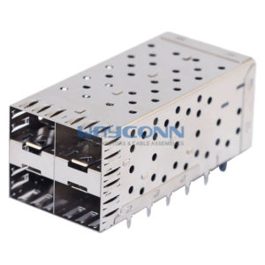 SFP Cage 2X2 Stacked with Light Pipe Assembly Press Fit