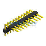 Board Spacer 1 Row Right Angle 1.27mm Pin Header